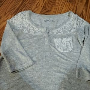 Cute! Abercrombie Kids silver sweater